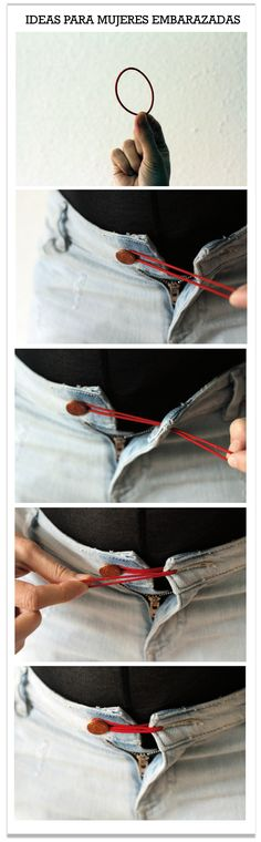 trucos goma en los botones pantalon