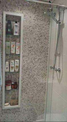 Nicho para banheiro para quem não pode embutir