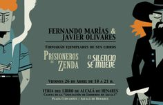 Flyer for a signature event in the Madrid Book Fair.