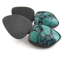 Natural Turquoise Earrings, Oxidized Gemstone Earrings, Turquoise Silver Earrings, Contemporary Gemstone Earrings, Unique Design Earrings