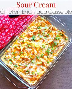 Sour Cream Chicken Enchilada Casserole Green Enchilada Sauce, Chicken Enchilada Casserole, Chicken Enchiladas, Mexican Casserole, Pasta Casserole, Baked Ziti With Meatballs, Carb Balance Tortillas, Bubble Up Enchiladas, Sour Cream Chicken