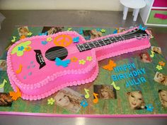 A Slice of Heaven Custom Cakes Online Cake Decorating School: How to make a Guitar Cake