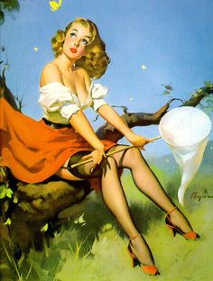 Vintage Pin-up Posters of Gil Elvgren: Gallery 5 | Sad Man's Tongue Rockabilly Bar & Bistro – Prague