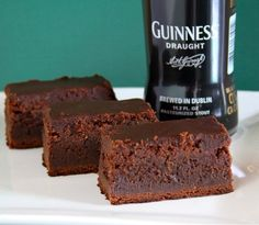 Guiness Brownies for St. Paddys day- i think i know a certain guy who would love these!