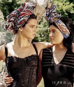 Kendall+and+Kylie+Jenner+for+DuJour+by+Bruce+Weber+via+@WhoWhatWear