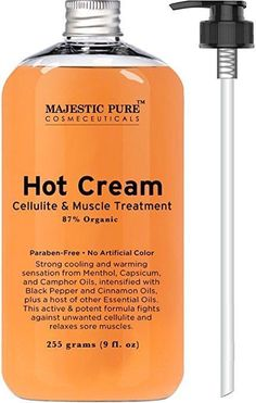 Anti Cellulite Cream Natural Treatment Tight Muscles Joint Muscle Pain Soothes  #MajesticPure