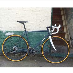 """""""Custom Acciaio awaiting collection in matte grey with white fork."""""""