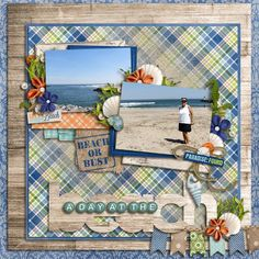 only two photos but filled with creativity! layers papers to frame, words also layers, added decor