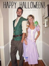 Dress up with someone for Halloween as Flynn Rider and Rapunzel from Tangled!