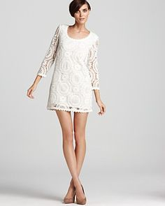 Love white dresses but really love white LACE dresses! This one by French Connection at Bloomingdales yells SPRING at me!