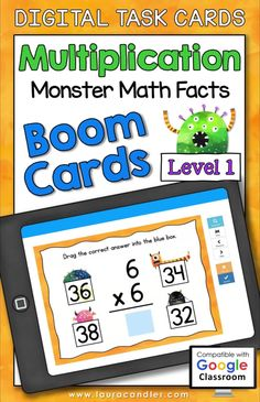 Multiplication Monster Math Facts Level 1 digital self-checking Boom Cards are a fun way for students to develop fluency with multiplication facts having factors from 2 to 9! #BoomCards #DigitalTaskCards #DistanceLearning #mathboomcards #mathfun Multiplication Facts, Math Facts, Teaching Jobs, Teaching Resources, Engage In Learning, New Teachers, Teacher Hacks, Fun Math, Task Cards