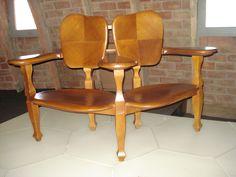 Double chair by Antoni Gaudi