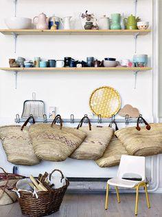 La maison d'Aurélie Lécuyer du blog Ledansla // Via le blog de déco : La petite fabrique de rêves.blogspot.fr // Rédaction : Vinciane Fiorentini-Michel