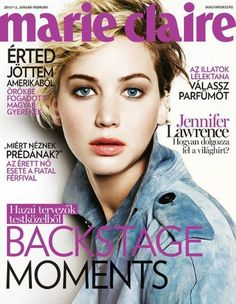Jennifer Lawrence for Marie Claire Hungary January 2015