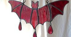 Goth Shopaholic: Stained Glass Bats from Riven Barrow Glass