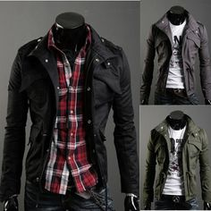 Mens Jackets Sale Multi Pocket Jacket Mens Black Jacket Mens Fashion Clothing #MS157-in Jackets from Apparel & Accessories on Aliexpress.com