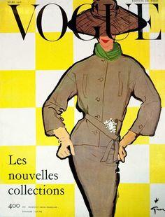 Rene Gruau 1956 #COVER #VOGUE