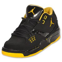 The Air Jordan Flight 23 offers players all the key elements of basketball with a Jordan twist. Hidden eyestay webbing loops along with variable injected lace locks will provide a lock-down performance fit. A foam backed collar lining throughout combine with perforations and venting components to offer comfort throughout. Polyurethane midsole houses a visible Air Sole unit encased with a chrome TPU window. Classic herringbone pattern is combined with a design that speaks to the herritage of…