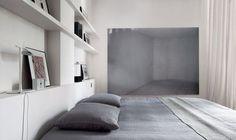 Tête de lit étagères