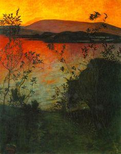 """art.is.hard//: Harald Oskar Sohlberg """"Night"""" 1905."""