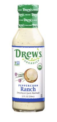 Mr Case Supplier of Chef Drew's Organic Dressing Peppercorn Ranch (Non-GMO, Vegan) delivery to your home or office in Toronto, Ontario, Canada. comes in a case of mL Plant Based Recipes, Ranch, Salsa, Gluten Free, Organic, Vegan, Healthy, Dressings, Ontario