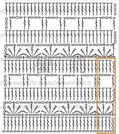 Crochet Stitches Chart, Crochet Diagram, Afghan Crochet Patterns, Crochet Motif, Diy Crochet, Crochet Designs, Knitting Patterns, Crochet Market Bag, Beautiful Crochet