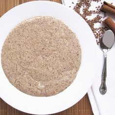 Low Carb Hot Cinnamon Flax Meal Porridge Recipe Beverages, Breakfast and Brunch with ground flaxseed, light cream, water, sweetener, ground cinnamon