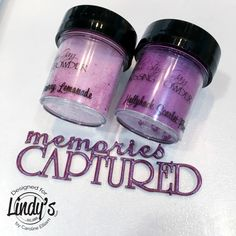 Memories Captured Canvas with Caroline - Lindy's Gang Embossing Powder, Textured Background, Memories, Purple, Memoirs, Souvenirs, Remember This, Viola