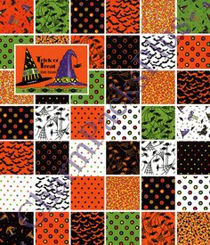 Halloween Moda Fabric - adorable!