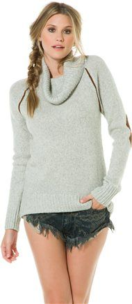 LAMADE COWL NECK PATCH SWEATER | Swell.com