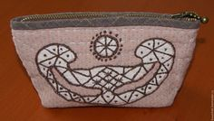 Cosmetic bag pink от easypatchwork на Etsy