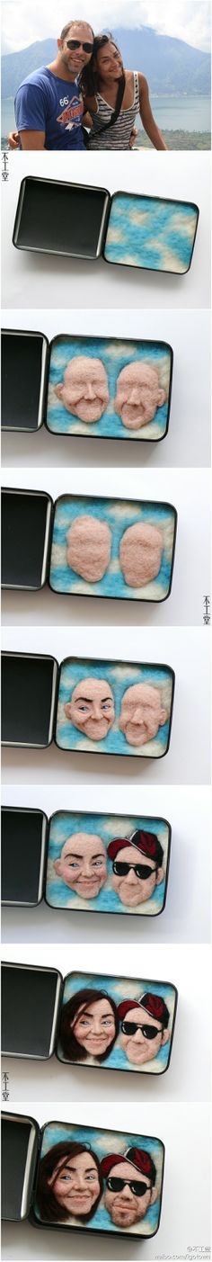 WOW!!! Felted portrait