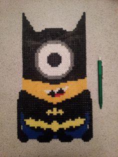 Batman Minion hama perler beads by Camilla Larsen