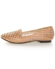 68d7aa7d6e6 Restricted Gloria Blush Laser Cut Smoking Slipper Flats