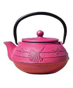 Another great find on #zulily! Fuchsia Cast Iron Teapot #zulilyfinds