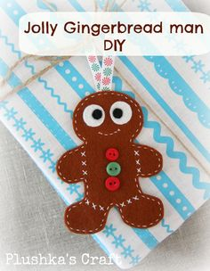 Jolly Gingerbread man Christmas DIY, Plushka's craft