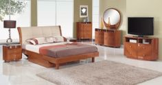 Evelyn Platform Bedroom Set - Cherry
