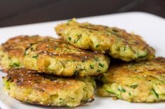 These zucchini cakes make an elegant appetizer. Shredded fresh zucchini, is mixed with a little Parmesan, panko, paprika, garlic and a hint of ground nutmeg. The mixture is then pressed into patties and pan fried in olive oil until they are golden brown.