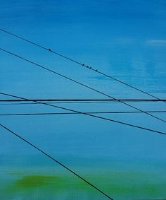 Ronda Stephens - Power Lines 20 - Thirty Paintings in Thirty Days ©AbstractionsbyRonda / http://abstractionsbyronda.blogspot.com