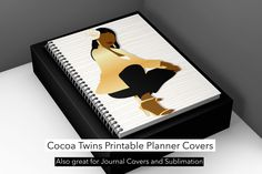 Printable Planner Covers Use our planner covers in digital format with: GoodNotes Swap Out Your Happy Planner Cover and Inserts Print and laminate to make spiral notebook covers Print on cardstock to create a binder cover and much more! Come purchase your set. www.CocoaTwins.com #Planner #Printable #Journal Happy Planner Cover, Planner Covers, Spiral Notebook Covers, Printable Planner, Printables, Binder Covers, All Sale, Are You Happy, Cocoa