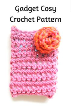 Gadget cosy crochet pattern with flower