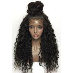 Black High Quality Long Curly Chic Lace Wig ($110) ❤ liked on Polyvore featuring intimates, hosiery, socks, black, thin socks, long socks, lace socks, lace hosiery and lace up socks