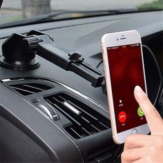 Bakeey™ ATL-3 2 in 1 Magnetic Phone Stand Sucker Car Air Outlet Holder for iPhone Samsung Xiaomi Sale - Banggood.com