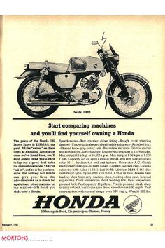 Soon After This Ad Was Launched Every Motorcycle Enthusiast Stopped Comparing Machines