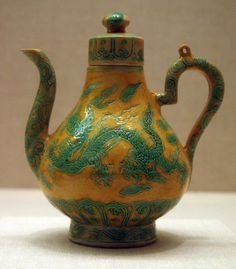 China  Ewer with Cover, Ming dynasty (1368–1644), Zhengde reign mark and period (1506–1521)