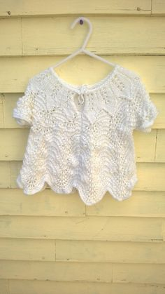 White Knit Top Size 912 Months by creationsforcora on Etsy, $20.00
