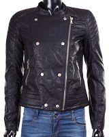 Geaca Zara Dama Buttonned Faux Leather (Zara) Motorcycle Jacket, Zara, Leather Jacket, Fashion, Studded Leather Jacket, Moda, La Mode, Moto Jacket, Leather Jackets