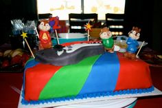 Alvin and the Chipmunks Cake for a 2 year-old little guy