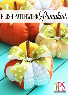Fabric Pumpkin Pattern and Tutorial #fall #pumpkins #sewing