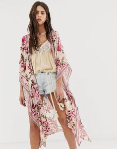 a14fed06de Aratta burnout velvet floral kimono with contrast trim